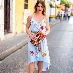 Leith floral midi dress